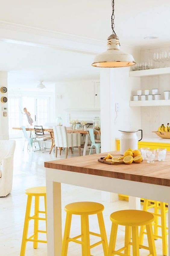 yellow kitchen